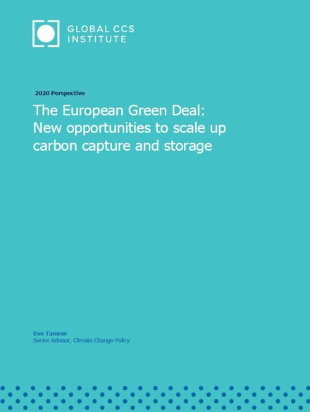 2020 Perspective : The European Green Deal: New opportunities to scale up carbon capture and storage