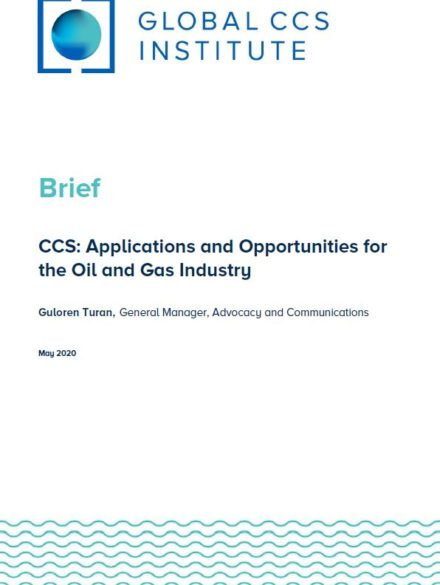 CCS: Applications and Opportunities for the Oil and Gas Industry