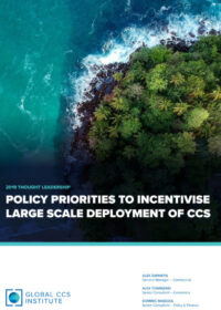 Policy priorities to incentivise large scale deployment of CCS