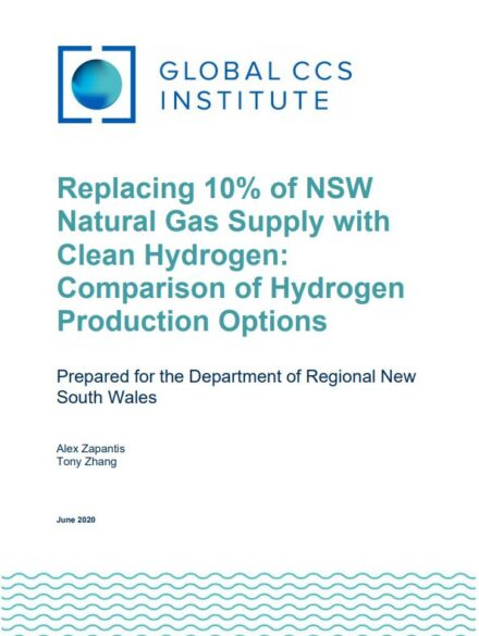 Replacing 10% of NSW Natural Gas Supply with Clean Hydrogen: Comparison of Hydrogen Production Options