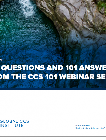 インスティテュート文献「CCS初級ウェビナー・シリーズより101の質疑応答」